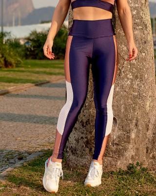Legging Candy Marinho com Rosê Van Andretta SND