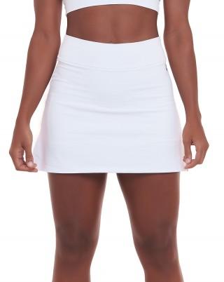 Short Saia Basic Branco SND Sandy Fitness