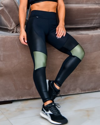 Legging Fiction Nero Van Andretta