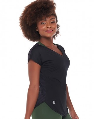 Blusa Very Nero SND Sandy Fitness